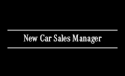 New Car Sales Manager